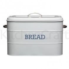 Ψωμιέρα Μεταλλική Kitchencraft Living Nostalgia Γκρι