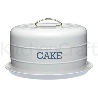 Τουρτιέρα Μεταλλική Living Nostalgia Kitchencraft 28.5cm Γκρι home   ζαχαροπλαστικη   τουρτιέρα   θήκες cake