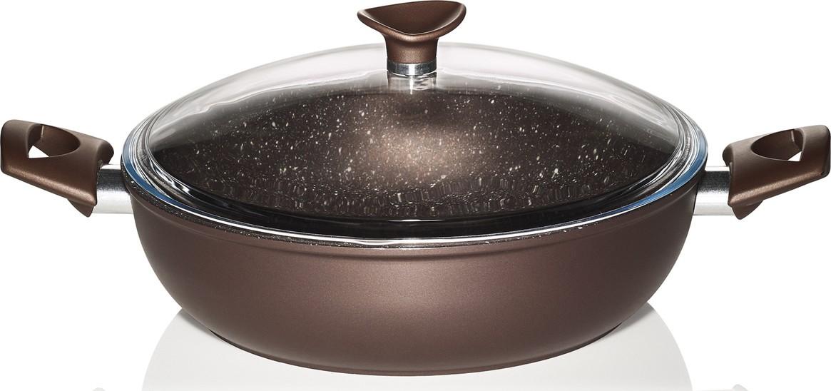 Σοτέζα Αντικολλητική Stone Chef Με Πέτρινη Επίστρωση 28cm Pyramis home   σκευη μαγειρικης   κατσαρόλες χύτρες   κατσαρόλες