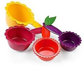 Μεζούρες Κούπες Πλαστικές Σετ 4τμχ. Kizmos Floral home   εργαλεια κουζινας   μεζούρες