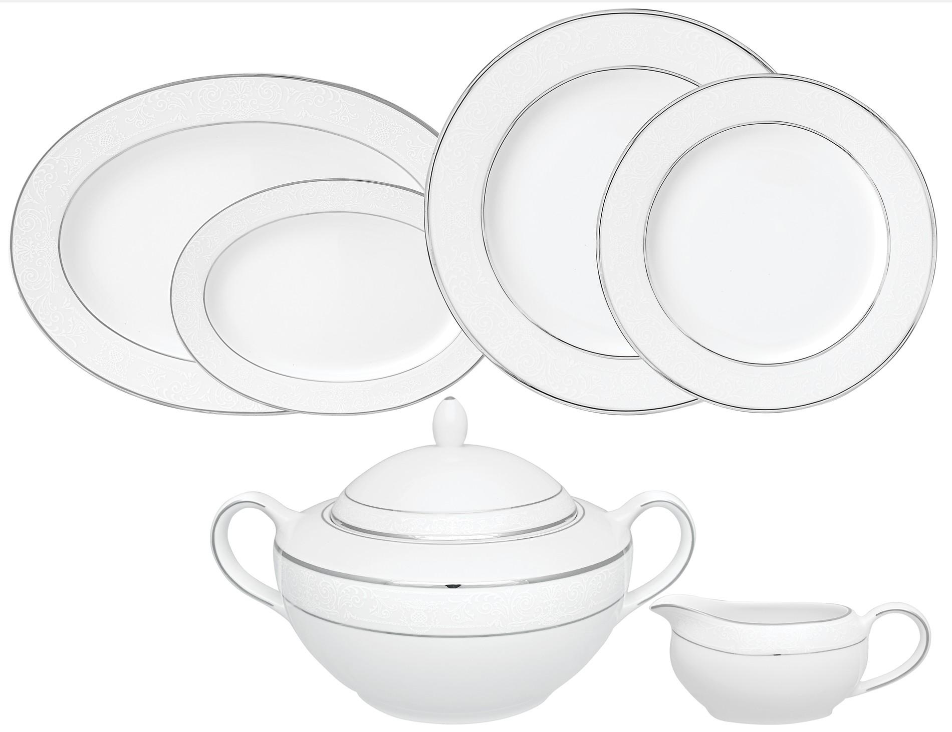 Σερβίτσιο Φαγητού Dantelle 72τμχ. Ionia home   ειδη σερβιρισματος   πιάτα