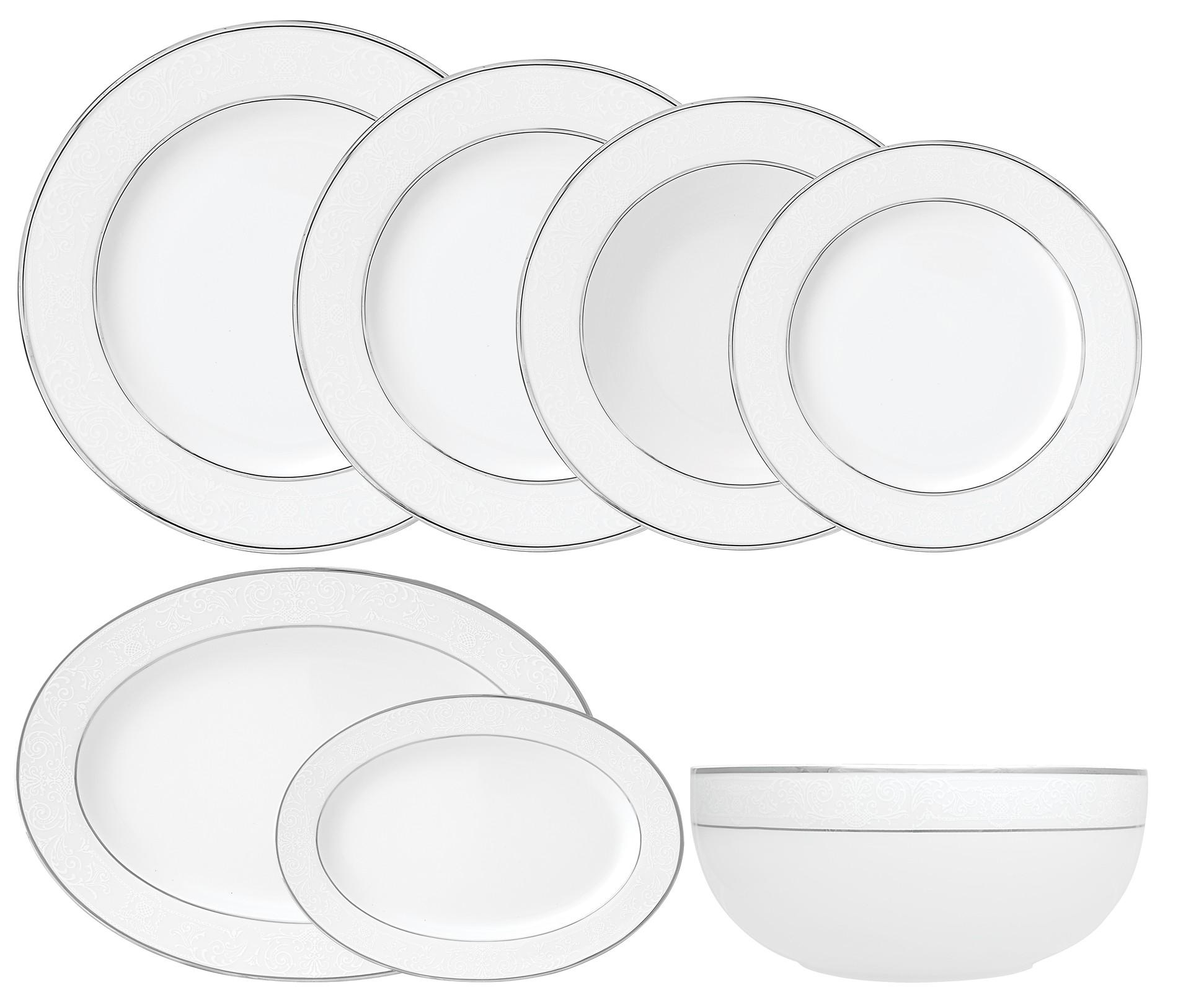 Σερβίτσιο Φαγητού Dantelle 42τμχ. Ionia home   ειδη σερβιρισματος   πιάτα