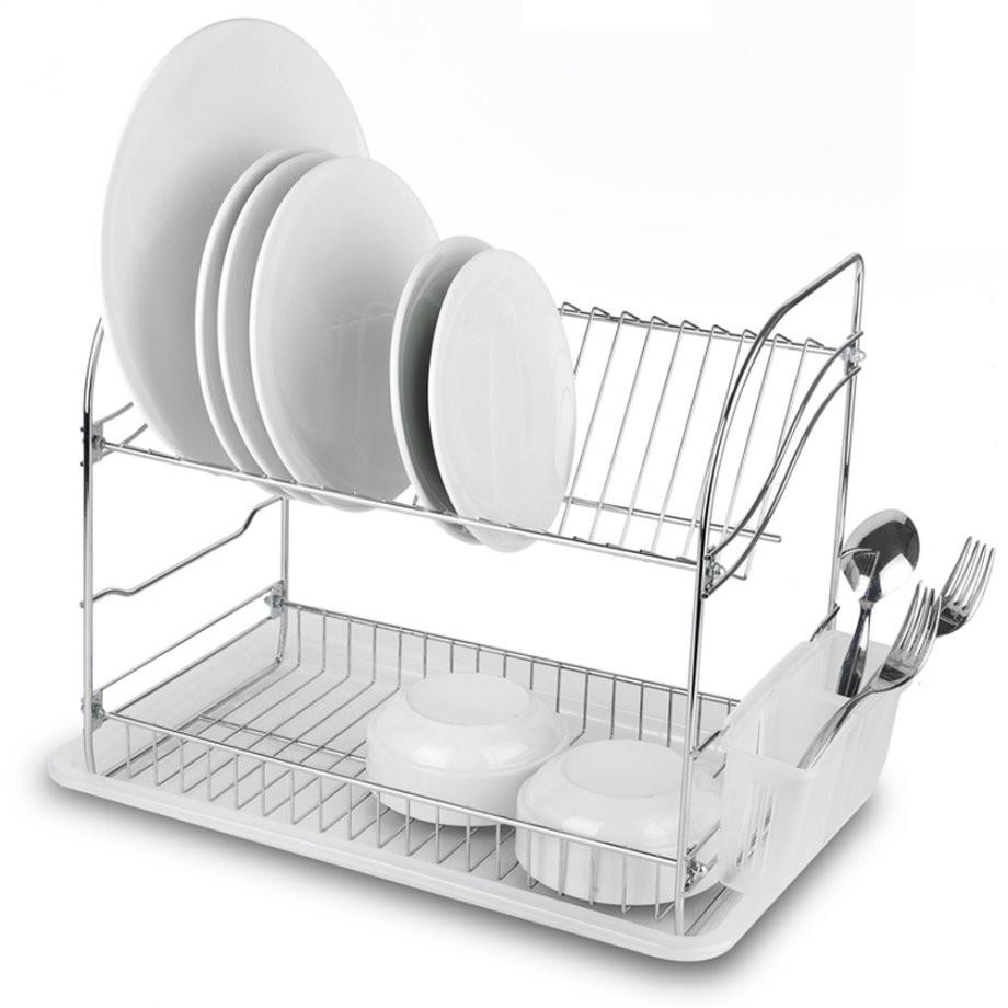 Πιατοθήκη Διώροφη Ανοξείδωτη 18/10 Tekno-Tel home   αξεσουαρ κουζινας   πιατοθήκες   στεγνωτήρες