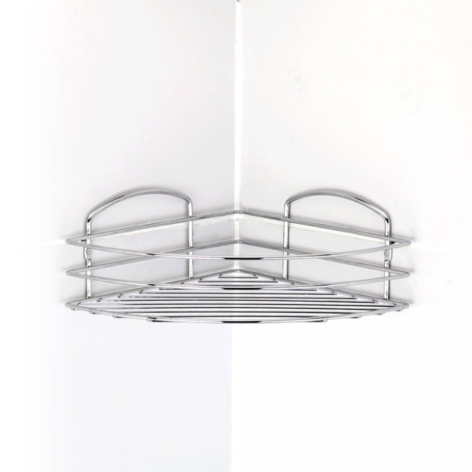 Εταζέρα Μπάνιου Γωνιακή Ανοξείδωτη 18/10 Tekno-Tel home   ειδη μπανιου   αξεσουάρ μπάνιου