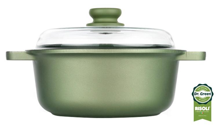 Χύτρα Dr. Green Χυτού Αλουμινίου 28cm Risoli home   σκευη μαγειρικης   κατσαρόλες χύτρες