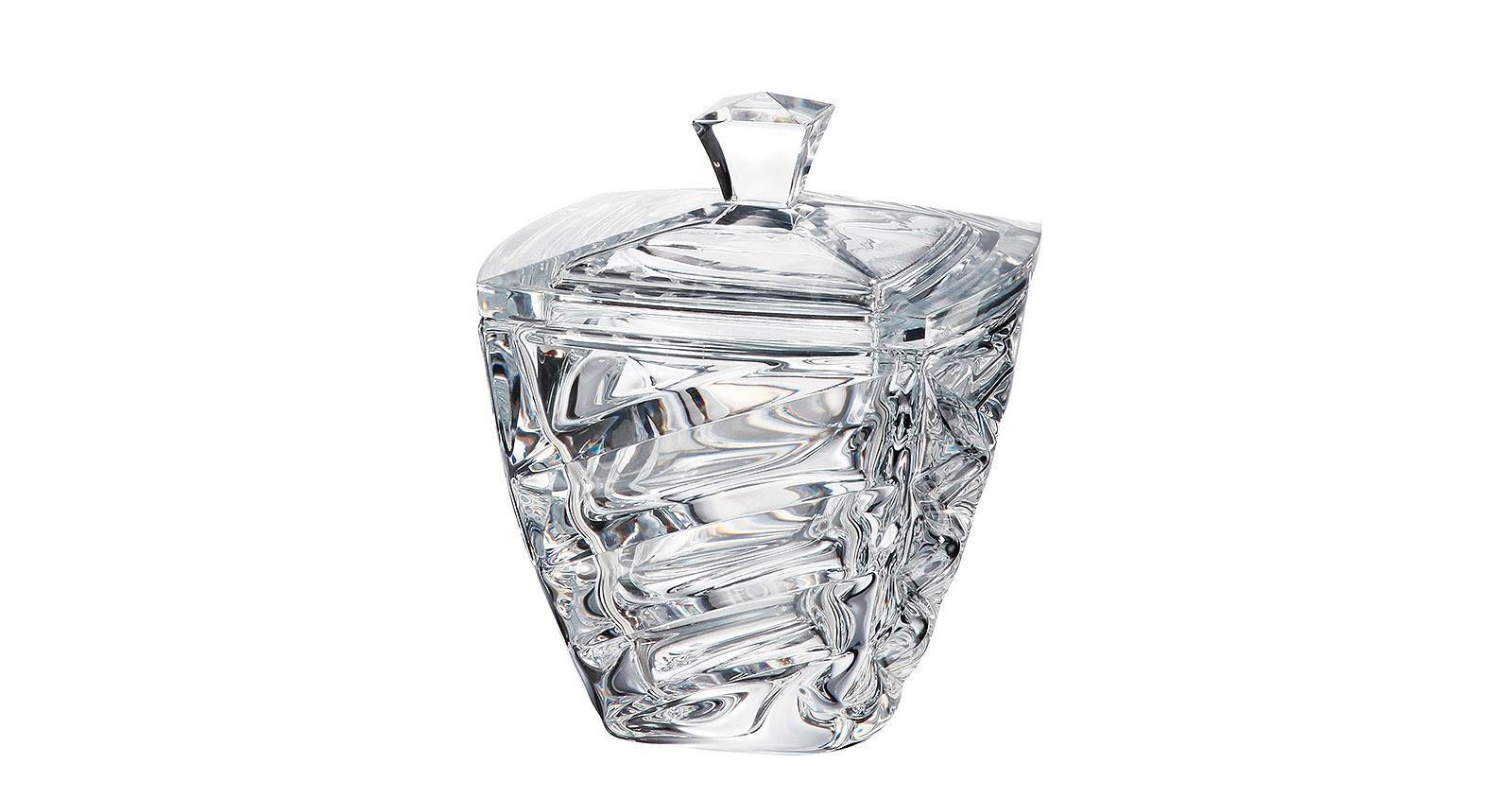 Φοντανιέρα Facet Bohemia Με Καπάκι Κρυστάλλινη 18cm home   κρυσταλλα  διακοσμηση   κρύσταλλα