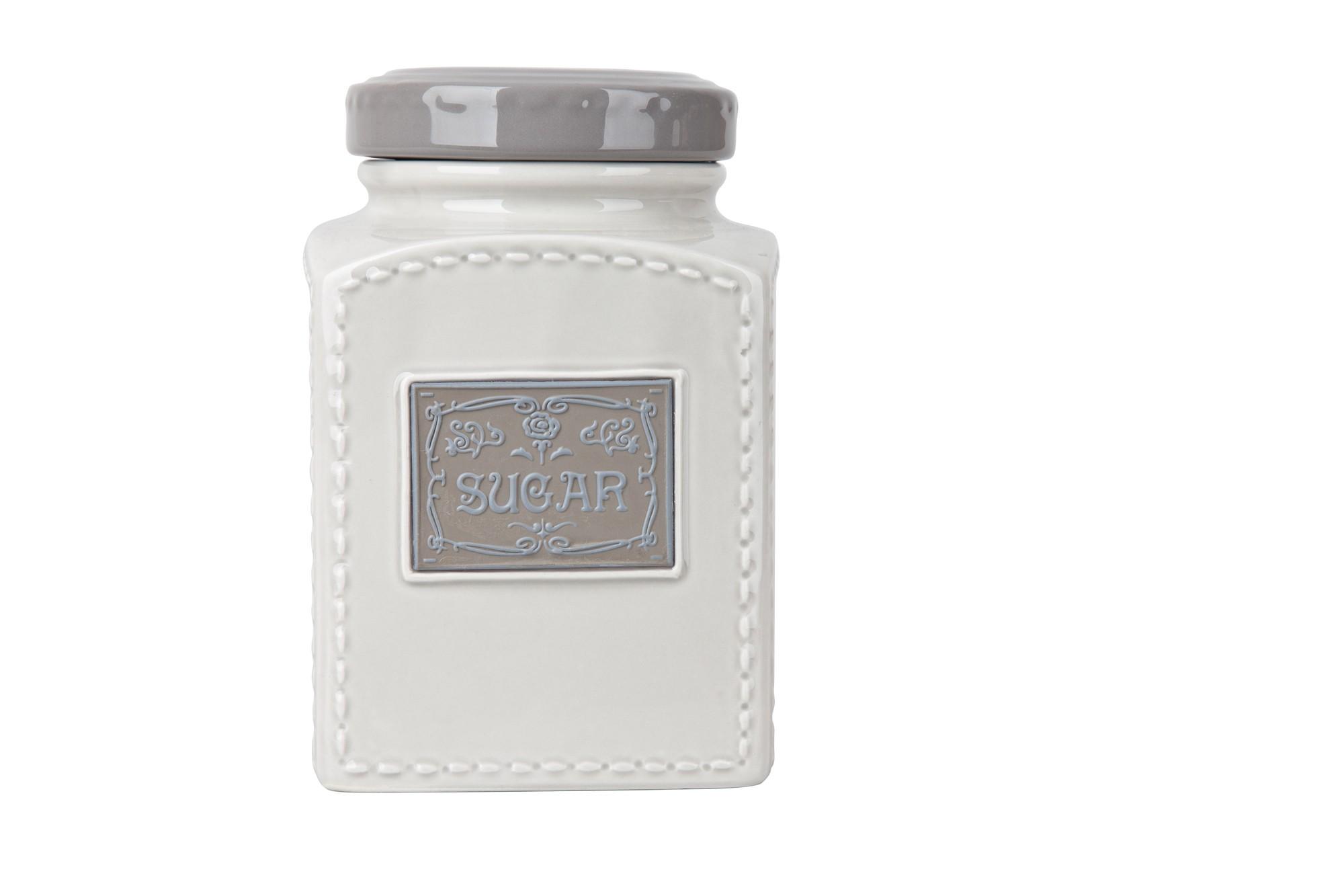 Δοχείο Ζάχαρης Πορσελάνης Iro Grey home   ειδη cafe τσαϊ   δοχεία καφε   ζάχαρης