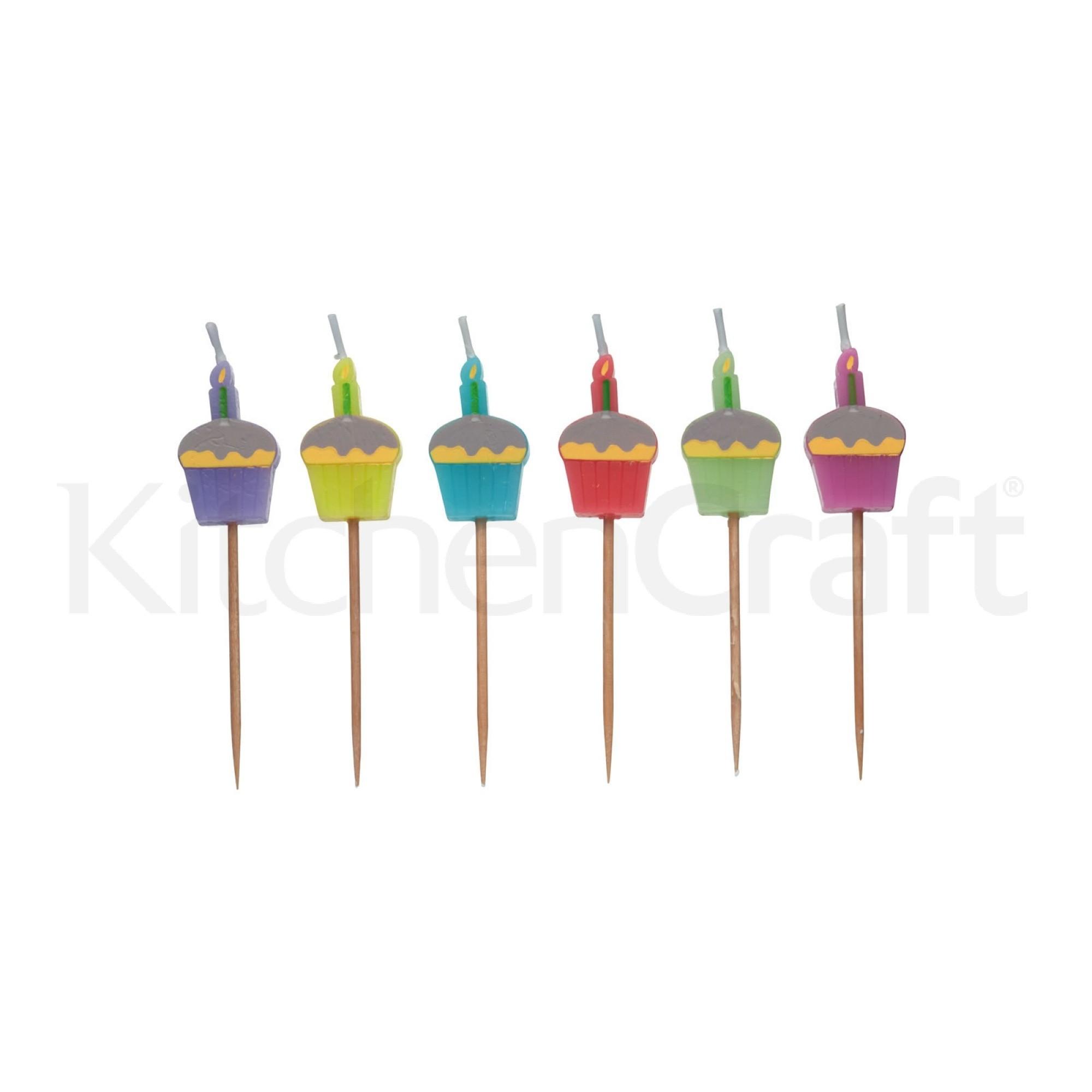 """Κεράκια """"Cupcake"""" Σετ 6τεμ Sweetly Does it home   ζαχαροπλαστικη   εργαλεία ζαχαροπλαστικής"""