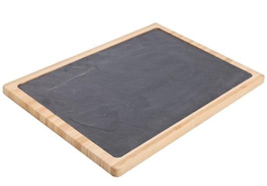 Πλατό Σερβιρίσματος Με φυσική Πέτρα Και Ξύλο 32cm cosy & Trendy home   ειδη σερβιρισματος   πιατέλες