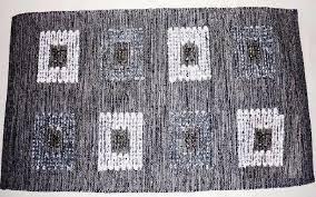 Χαλάκι Λυδία Εσωτερικού Χώρου Μαύρο 60X115 home   ειδη μπανιου   χαλιά