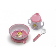 Σετ Φαγητού BeBe Smiley Baby Girl Zak Designs 3Τεμ. Μελαμίνης