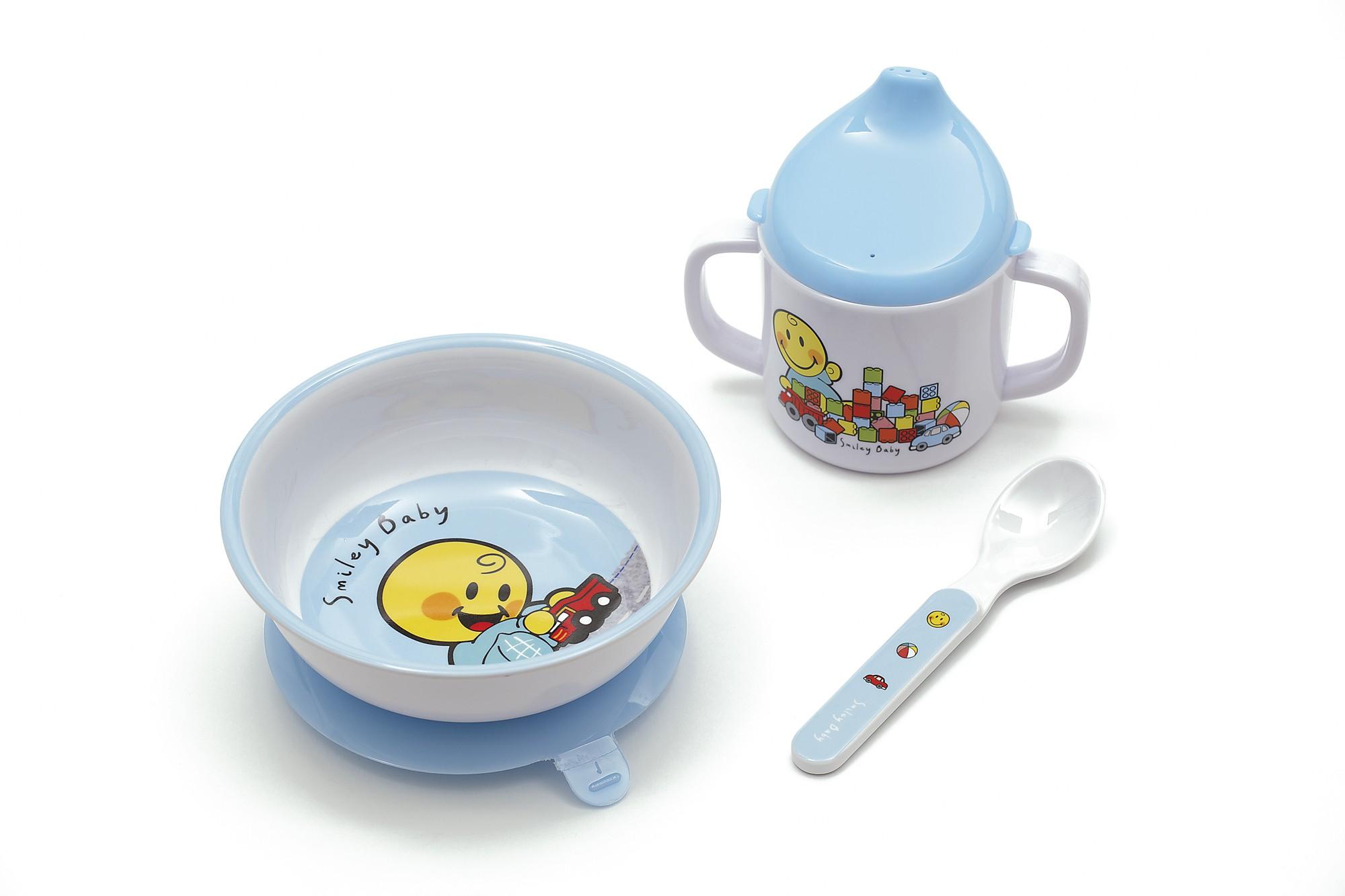 Σετ Φαγητού BeBe Smiley Baby Boy Zak Designs 3Τεμ. Μελαμίνης home   ειδη σερβιρισματος   είδη bebe