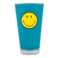 Ποτήρι Σωλήνα Μελαμίνης Zak Designs Smiley Μπλε 330ml