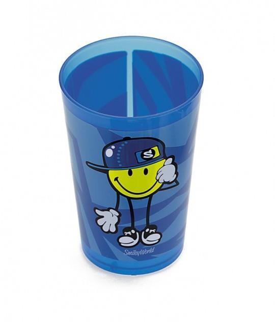 Ποτήρι Σωλήνα Μελαμίνης Zak Designs Smiley Kid Boy 260ml home   ειδη σερβιρισματος   είδη bebe