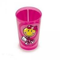 Ποτήρι Σωλήνα Μελαμίνης Zak Designs Smiley Kid Girl 260ml home   ειδη σερβιρισματος   είδη bebe