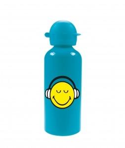 Παγούρι Αλλουμινίου Smiley Emoticon Headset Zak Designs Blue 600ml home   ειδη σερβιρισματος   είδη bebe