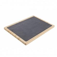 Πλατό Σερβιρίσματος Με Φυσική Πέτρα Και Ξύλο 40cm Cosy & Trendy