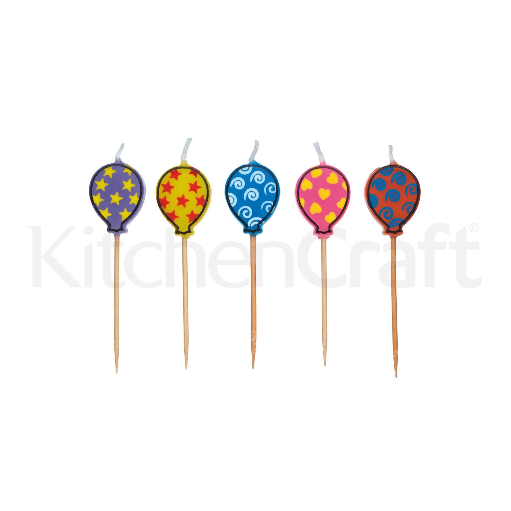 """Κεράκια """"Μπαλόνια"""" Σετ 5τεμ Sweetly Does It home   ζαχαροπλαστικη   εργαλεία ζαχαροπλαστικής"""
