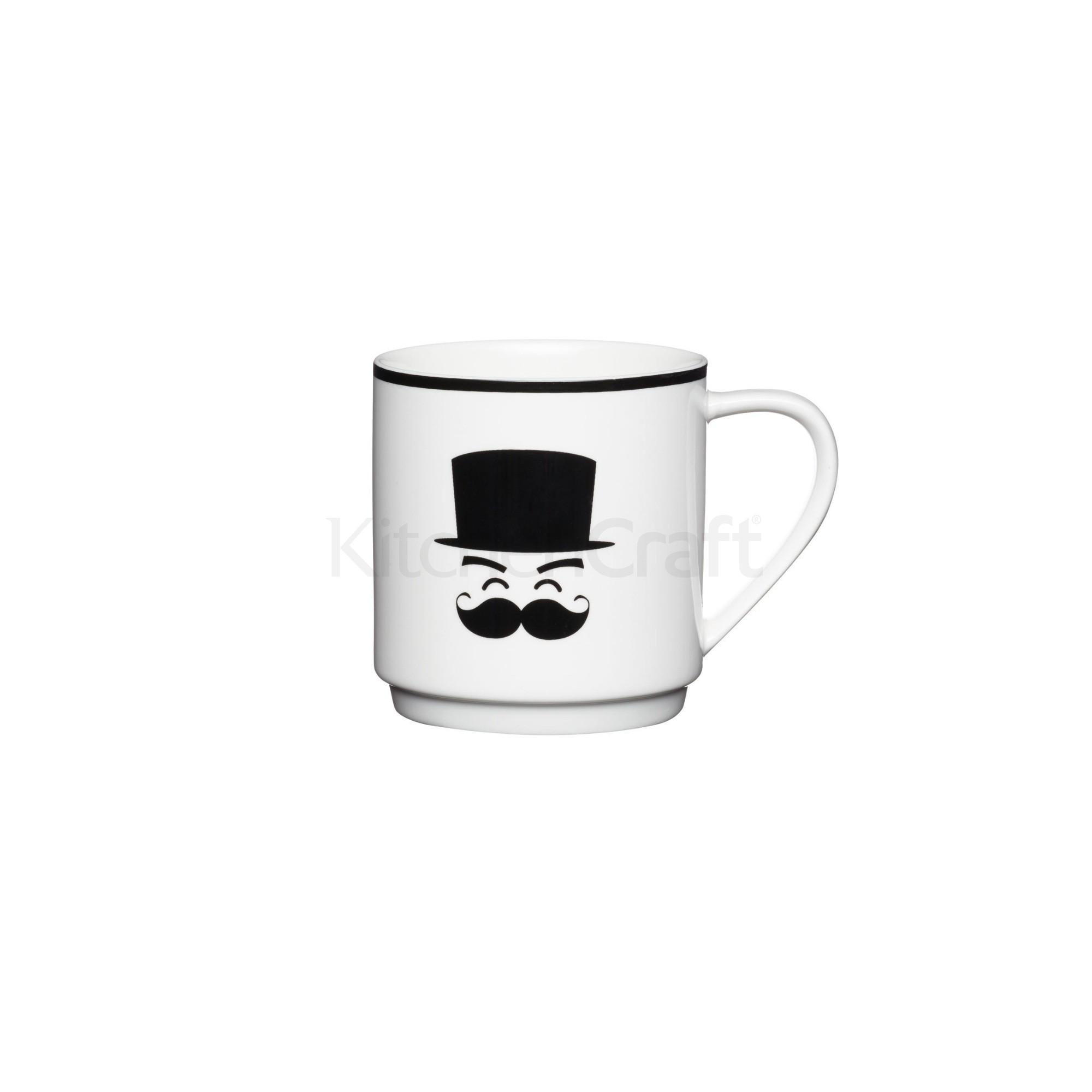 Κούπα Μουστάκι Στοιβαζόμενη 340ml home   ειδη cafe τσαϊ   κούπες   φλυτζάνια