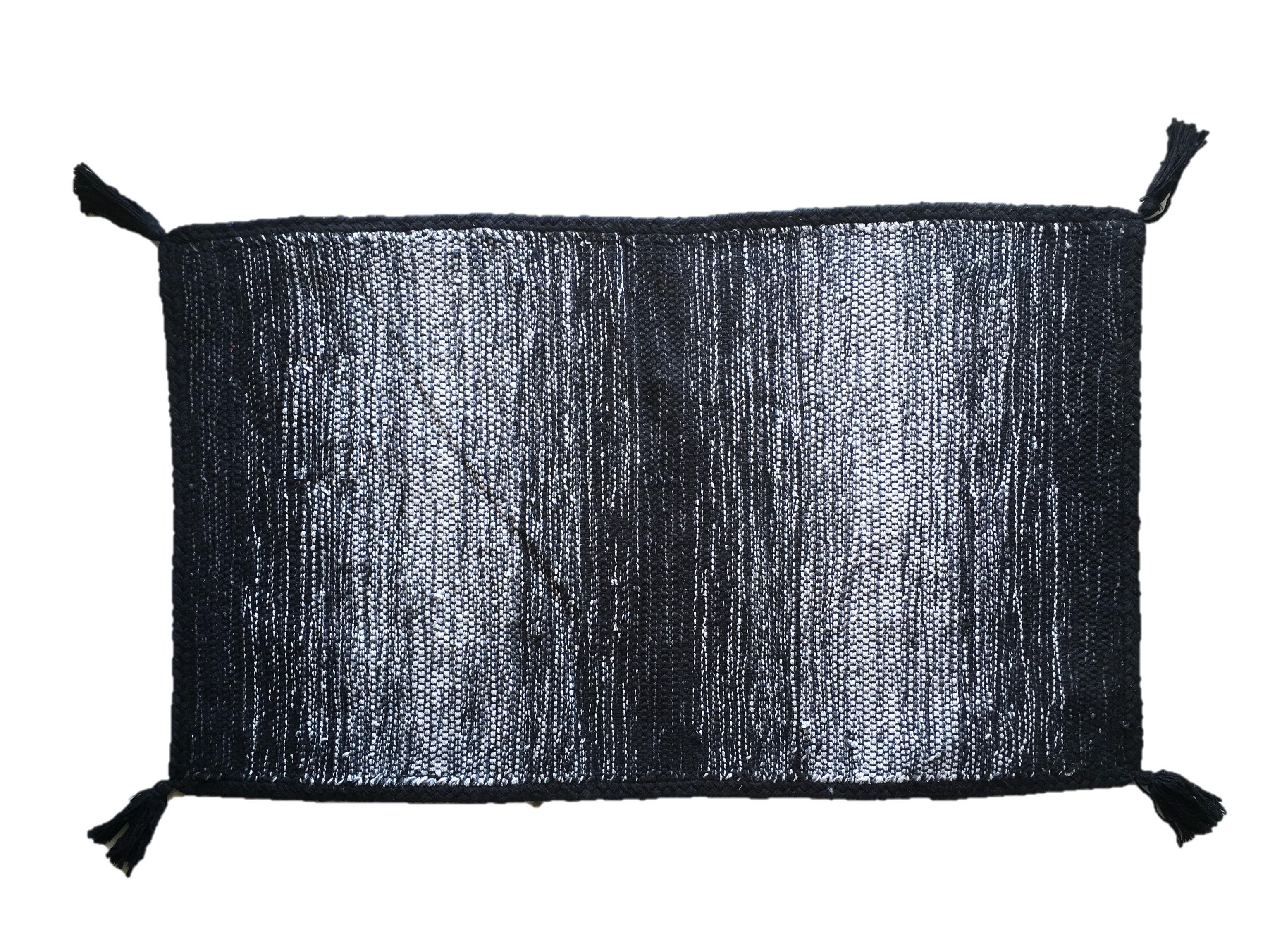 Χαλί Lora Εσωτερικού Χώρου Μαύρo 135cm x 70cm home   ειδη μπανιου   χαλιά   πατάκια μπάνιου