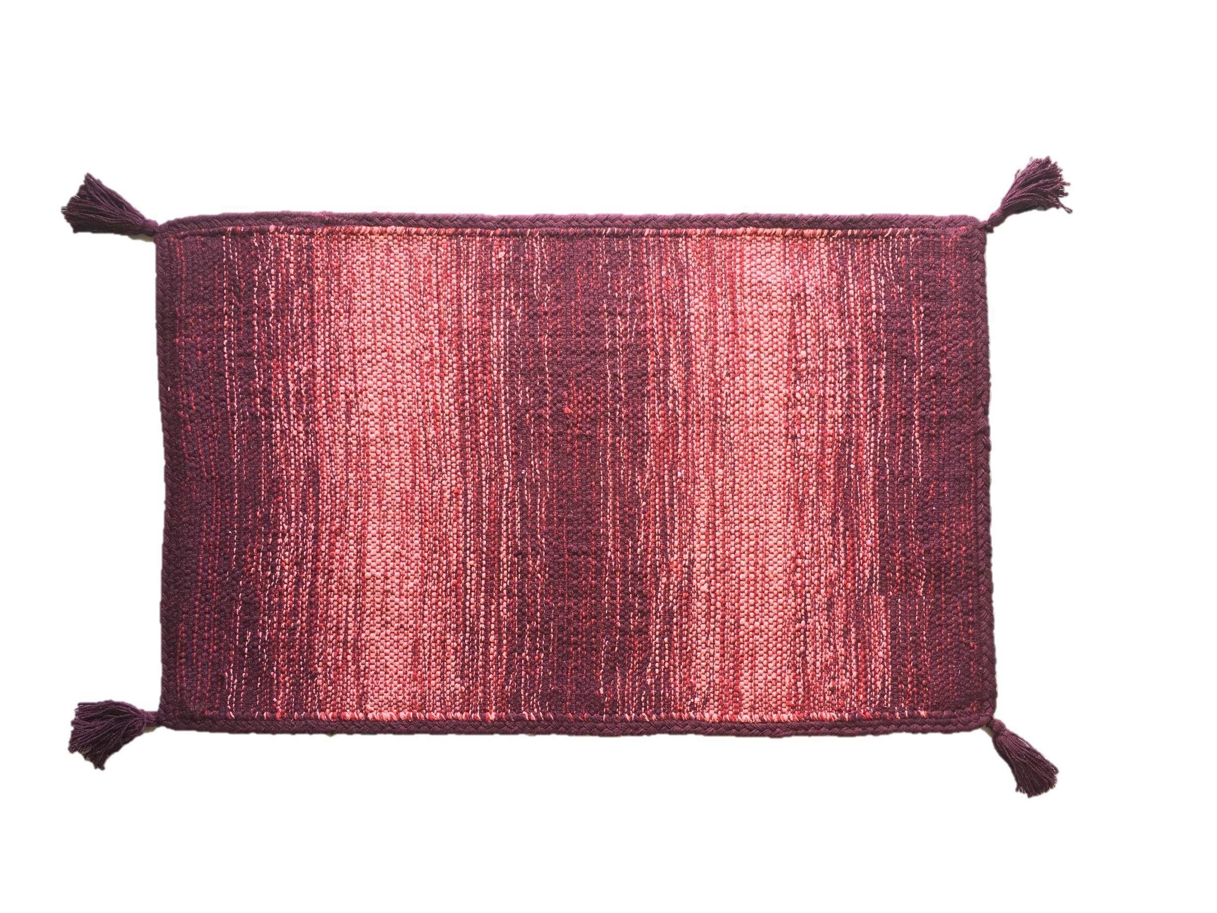 Χαλί Lora Εσωτερικού Χώρου Μπορντο 135cm X 70cm home   ειδη μπανιου   χαλιά   πατάκια μπάνιου