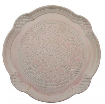 Δίσκος Σερβιρίσματος Ξύλινος, Στρογγυλός, Αντικέ Ροζ 34cm home   ειδη σερβιρισματος   δίσκοι