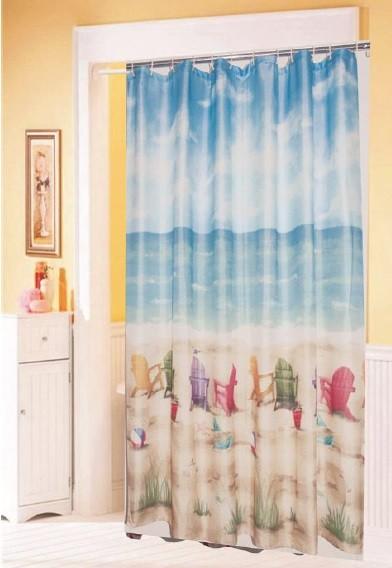 Κουρτίνα Μπάνιου Υφασμάτινη 180x180cm Beach home   ειδη μπανιου   κουρτίνες μπάνιου