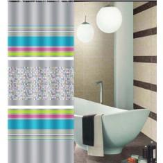 Κουρτίνα Μπάνιου Υφασμάτινη 180x180cm Waves Digital