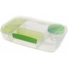 Δοχείο Τροφίμων Για Κολατσιό Lunch Box 3 Θέσεων Λαχανί BPA Free, SISTEMA.