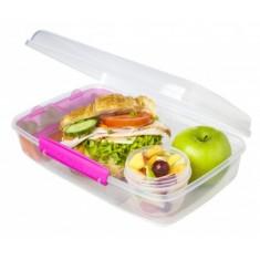 Δοχείο Τροφίμων Για Κολατσιό Lunch Box 3 Θέσεων Φούξια BPA Free, SISTEMA.
