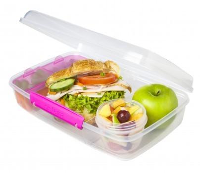 Δοχείο Τροφίμων Για Κολατσιό Lunch Box 3 Θέσεων Φούξια BPA Free, SISTEMA. home   αξεσουαρ κουζινας   δοχεία τροφίμων   βάζα αποθήκευσης