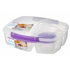 Δοχείο Τροφίμων Για Κολατσιό Lunch Box 3 Θέσεων Μωβ BPA Free, SISTEMA