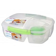 Δοχείο Τροφίμων Για Κολατσιό Lunch Box 3 Θέσεων Λαχανί BPA Free, SISTEMA