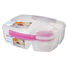 Δοχείο Τροφίμων Για Κολατσιό Lunch Box 3 Θέσεων Φούξια BPA Free, SISTEMA