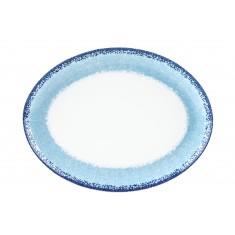 Πιατέλα Οβαλ Apeiron Blue 36cm Ionia