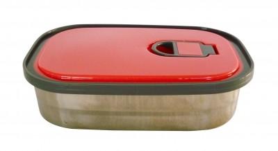 Φαγητοδοχείο Ανοξείδωτο 0,38Lt Κόκκινο home   αξεσουαρ κουζινας   δοχεία τροφίμων   βάζα αποθήκευσης