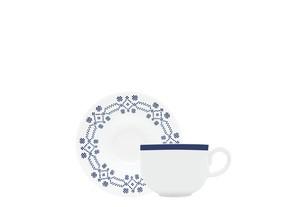 Φλυτζάνι & Πιάτο Τσαγιού Kythera Σετ 6τμχ Ionia home   ειδη cafe τσαϊ   κούπες   φλυτζάνια