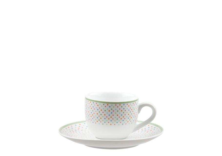 Φλυτζάνι & Πιάτο Καφέ Chromata Σετ 6τμχ Ionia home   ειδη cafe τσαϊ   κούπες   φλυτζάνια