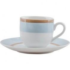 Φλυτζάνι & Πιάτο Καφέ Sky Σετ 6τμχ Ionia