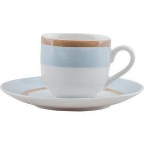 Φλυτζάνι & Πιάτο Καφέ Sky Σετ 6τμχ Ionia home   ειδη cafe τσαϊ   κούπες   φλυτζάνια