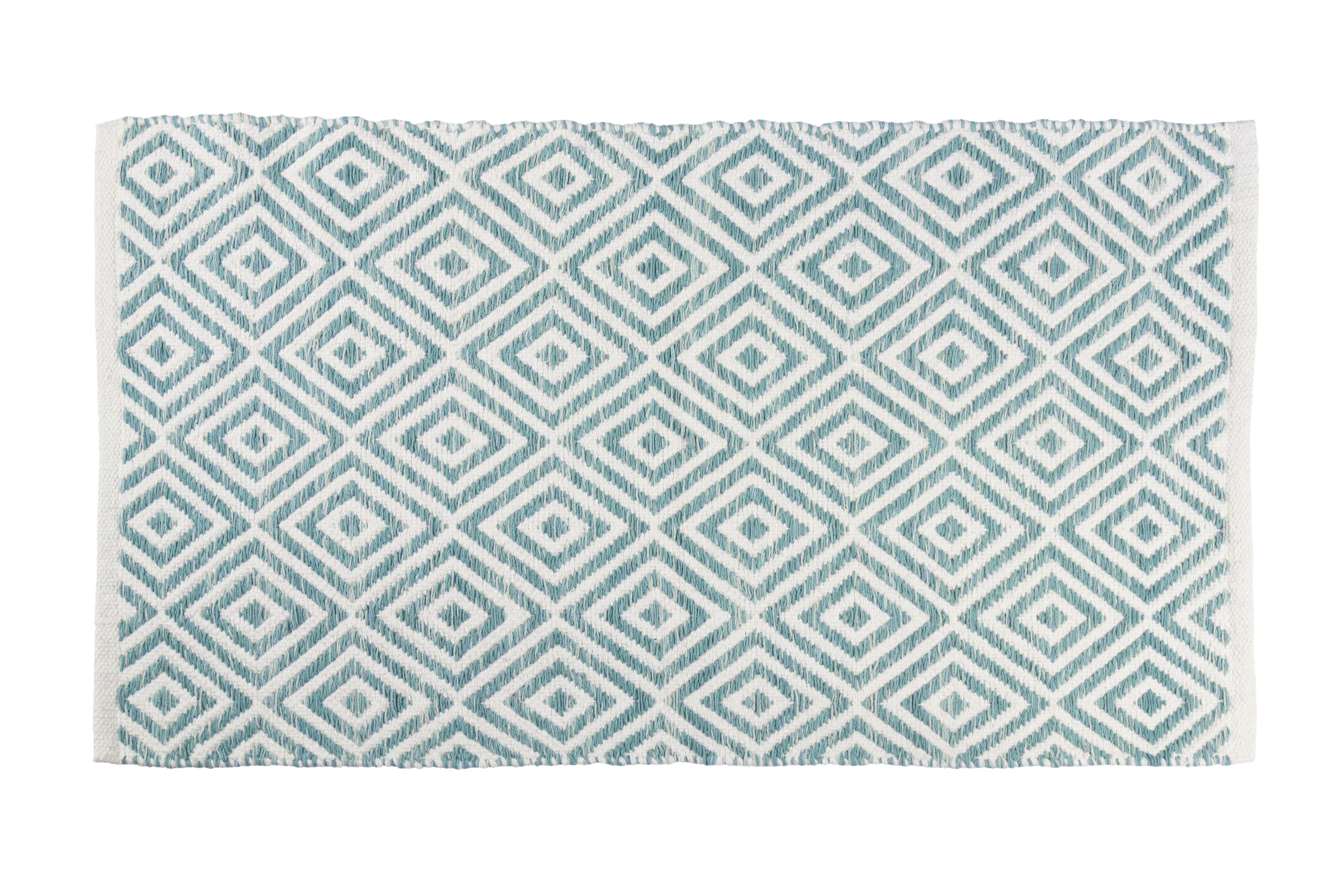 Πατάκι Μπάνιου Βαμβακερό Lauren Sea Blue 50x80cm home   ειδη μπανιου   χαλιά   πατάκια μπάνιου