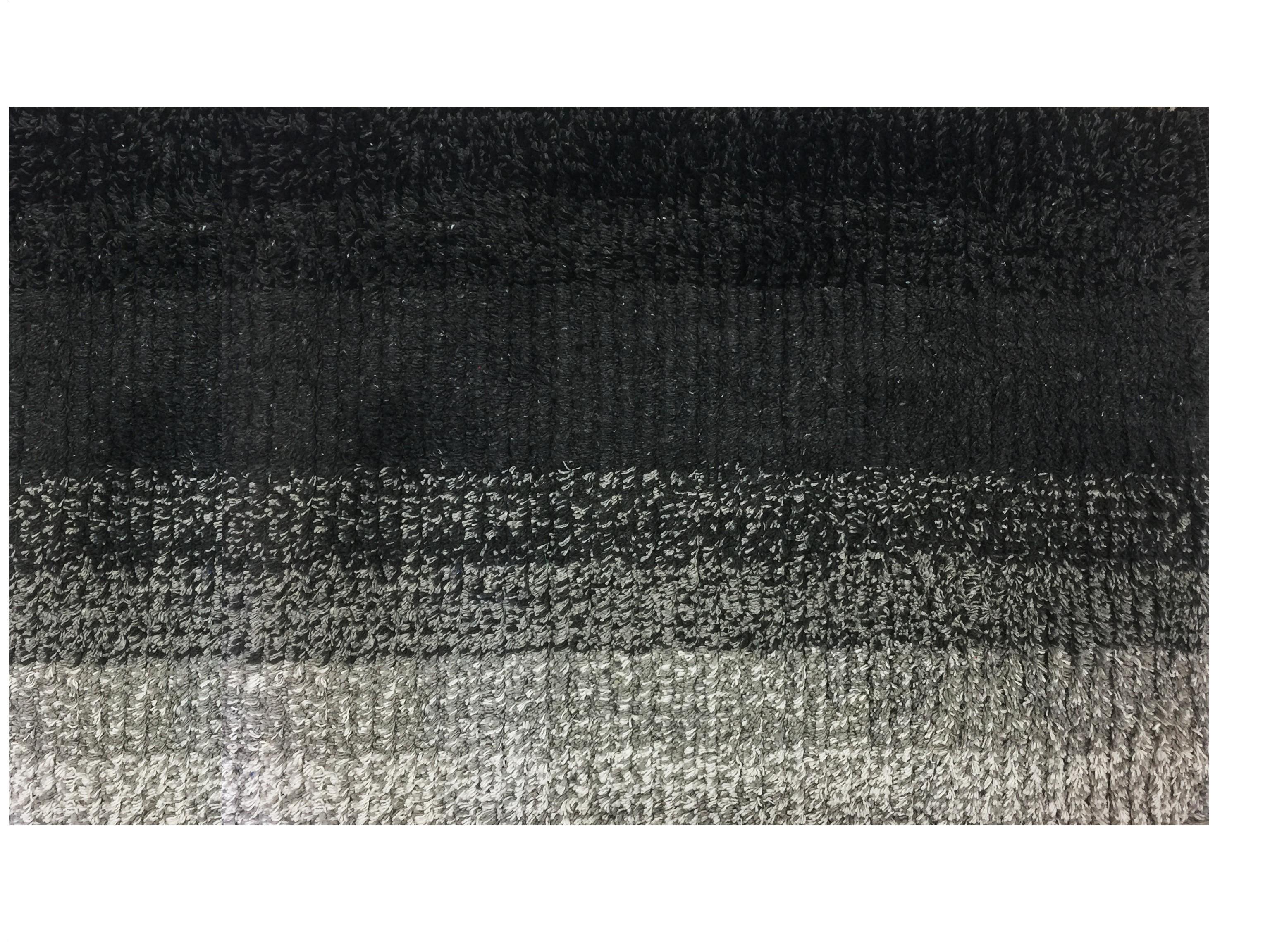 Πατάκι Μπάνιου Ombre Βαμβακερό Μαύρο 50cm X 80cm home   ειδη μπανιου   χαλιά