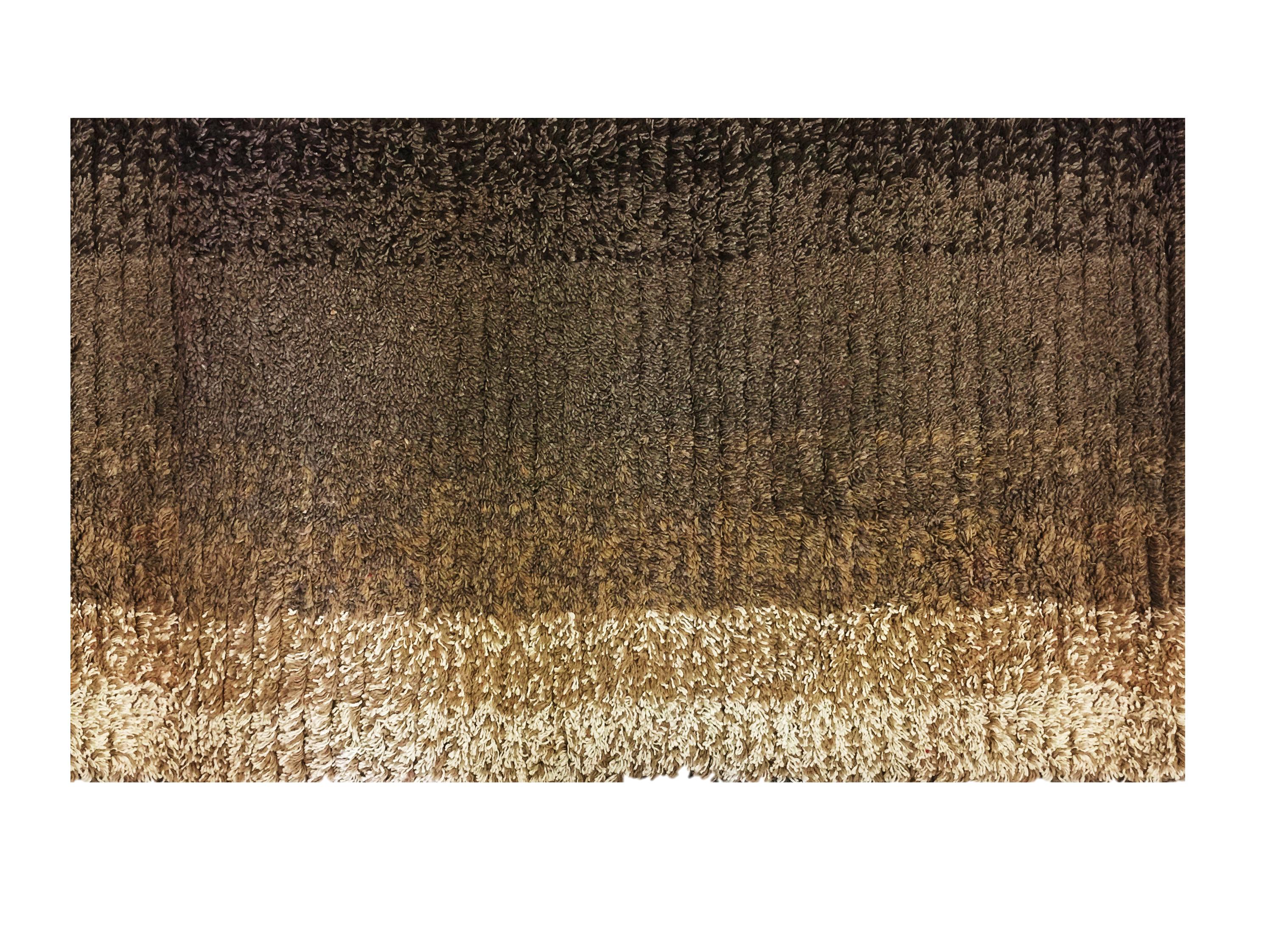 Πατάκι Μπάνιου Ombre Βαμβακερό Καφέ 50cm x 80cm home   ειδη μπανιου   χαλιά