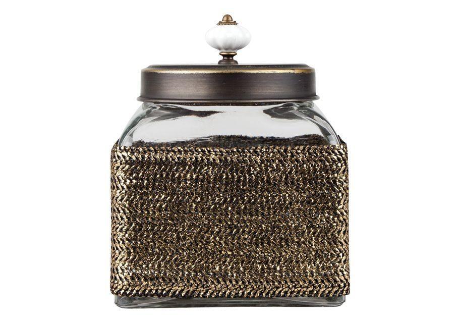 Βάζο Γυάλινο Τετράγωνο Με Ψάθα Trimar Μικρό home   κρυσταλλα  διακοσμηση   κρύσταλλα