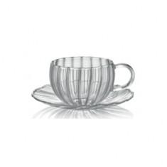 Φλιτζάνι Τσαγιού  Διάφανο Coffe & Tea 240ml  IVV
