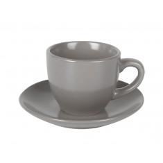Φλιτζάνι & Πιάτο Καφέ Studio 100cc Γκρι Home Design