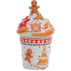 Μπισκοτιέρα Κεραμική Gingerbread