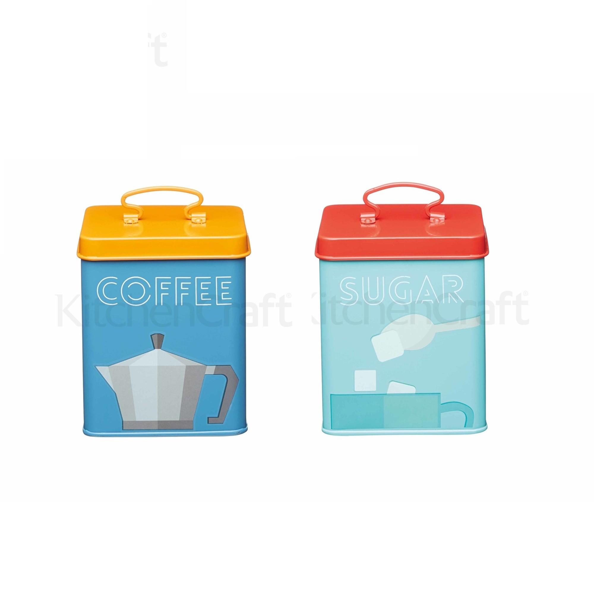 Μεταλλικά Δοχεία Σετ Καφέ - Ζάχαρη Kitchen Storage Kitchencraft home   ειδη cafe τσαϊ   δοχεία καφε   ζάχαρης